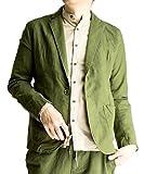 ジェネレス テーラードジャケット 綿麻 メンズ テーラード 麻 全5色 サマージャケット コットンリ...