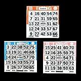 1 on BingoペーパーゲームカードTriple値パック – 500ブルー、500オレンジ、500ピンク – 4インチスクエアサイズ使い捨てカード – Made in USA