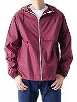 (ティーシャツドットエスティー) Tshirt.st 撥水 防風 フード・ポケット付き 一重 フルジップ ナイロンジャケット ( S , M , L , XL )