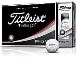 TITLEIST(タイトリスト) ゴルフボール Pro V1X ゴルフボール 12個 4ピース(ダブルナンバー) ユニセックス T2045S-LEJ ホワイト