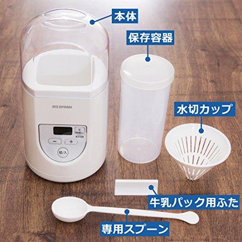 アイリスオーヤマ ヨーグルトメーカー プレミアム 温度調節機能付き ホワイト IYM-012
