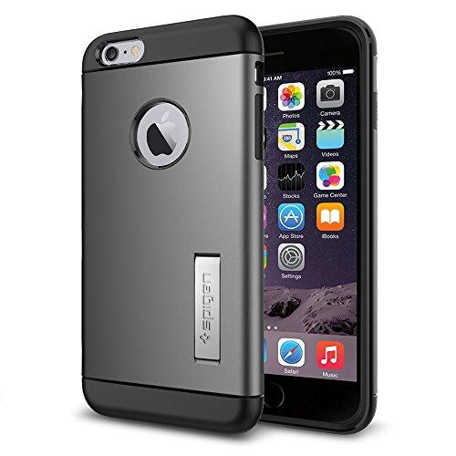 iPhone 6 Plus ケース Spigen スリム アーマー Apple iPhone (5.5) (国内正規品) (ガンメタル 【SGP10905】)
