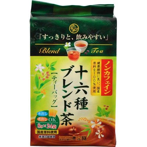 水宗園本舗 ノンカフェイン十六種ブレンド茶ティーバッグ 8g×24袋