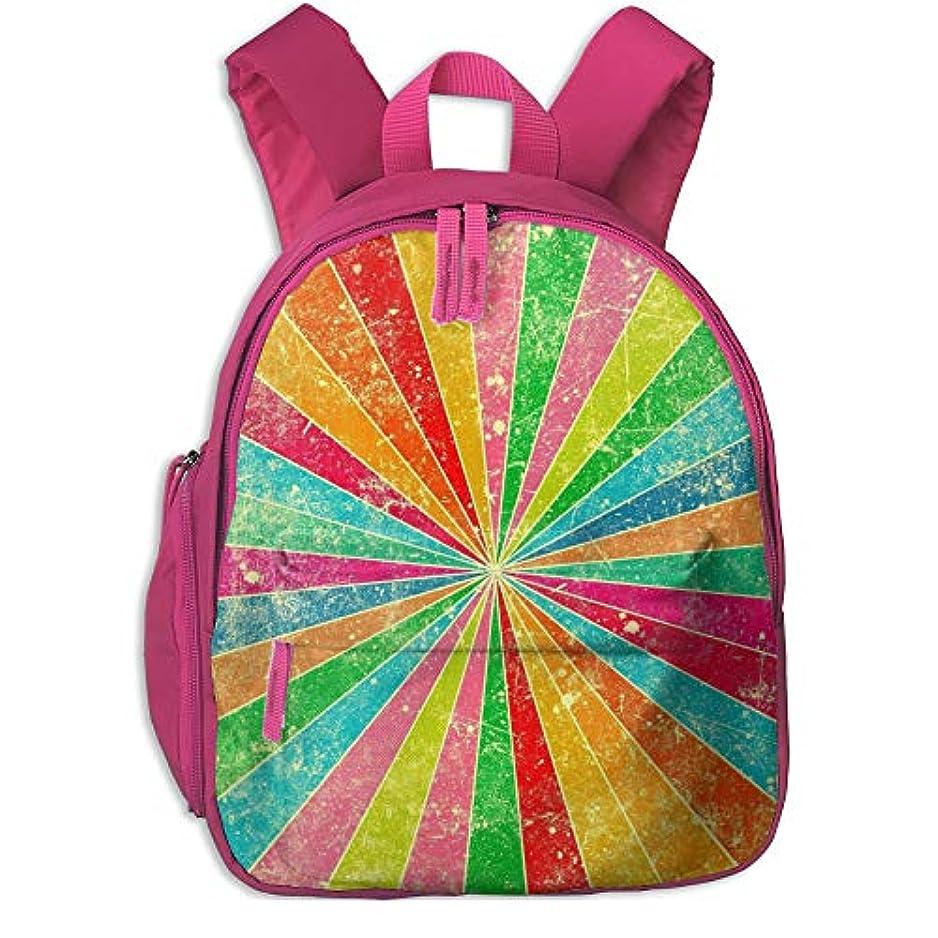 ストレス水没走る虹 かわいい 子供用バックパック 綺麗 キッズ リュック 実用性 通学 パック ポケット付き