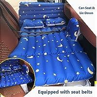 SUVカーインフレータブルマットレス旅行エアベッドバックシートキャンプリアシートマットクッションカーショックベッドブルー138 * 80 * 37センチメートル