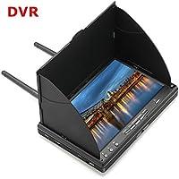 Liebeye LCD5802Dモニター 内蔵 モニター内蔵バッテリー 5.8 G 40CH 7インチ ヨーロッパ