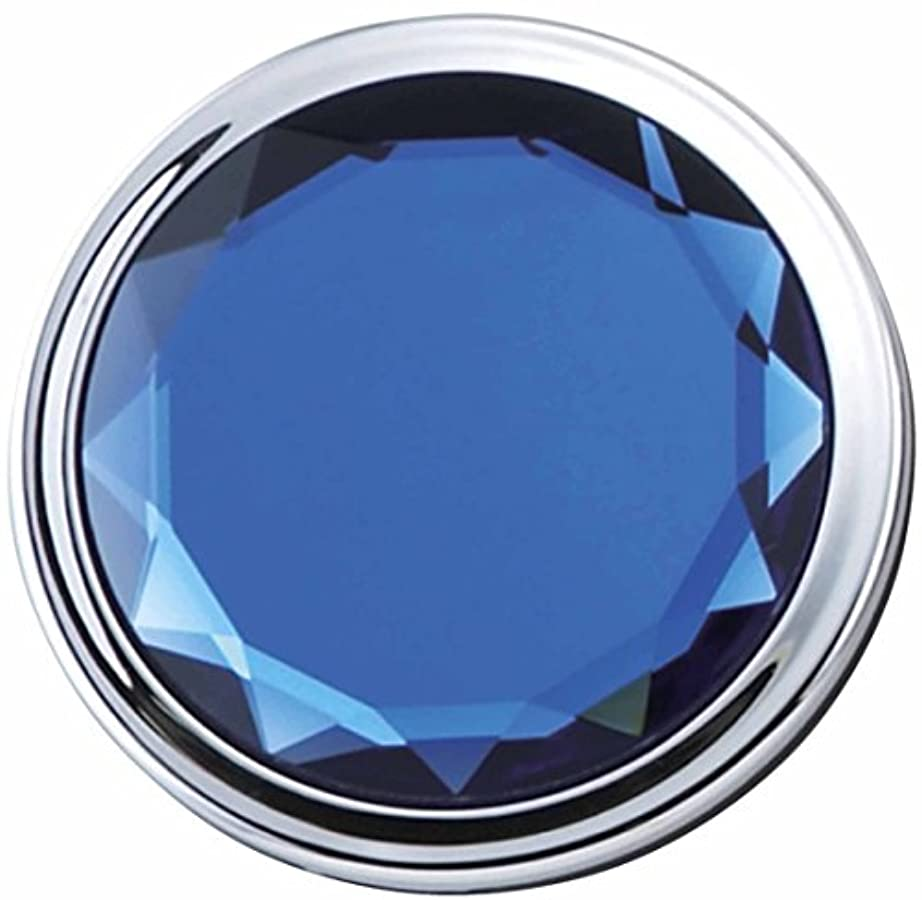 障害破壊する簡潔なメトリックス JEWEL color コンパクト ミラー ブルー 等倍 & 2倍 拡大鏡 es