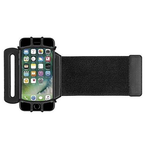 VUP+ スポーツ アームバンド リスト 装着 軽量 使いやすい 回転式 iPhone / Xperia など各種 スマホ (4〜5.5インチ) に対応 (ブラック)