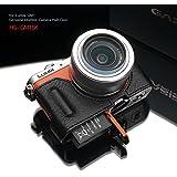 GARIZ Panasonic LUMIX GM1/GM5用 本革カメラケース HG-GM1BK ブラック