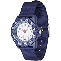 Wolfteeth Analog Watch for Boys Kids Watches for Boys Watch Waterproof 40mm Case Diameter Nylon Band 20mm 3118