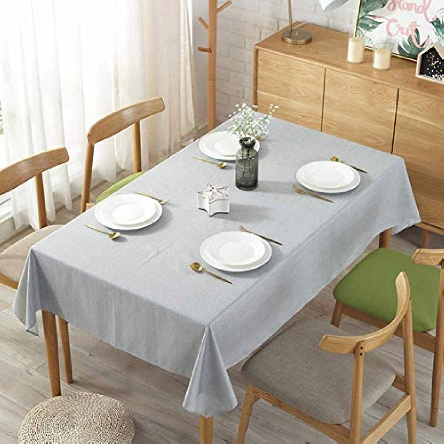 作者隠す系譜クリスマス テーブル クロス テーブルクロスは、屋内、屋外に適したクリーンテーブルクロス長方形リネンテーブルカバーソリッドカラー防水?防油テーブルクロスを拭き (Color : Light Grey, Size : 100×140cm)