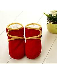 Cute Minor 大人気 秋冬保温 気持ちいい 上品な 超柔軟 シンプルな 子供 /赤ちゃん/ ソフトな靴底  滑り止め 歩き始める ベビー靴 (10cm, レッド)