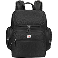 EGOGO Black Multifunction Mummy Bag Baby Nappy Changing Bag Backpack Diaper Bag Rucksack E304-1 (Black)