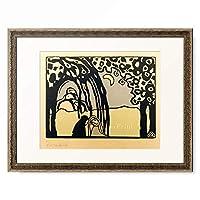 ワシリー・カンディンスキー Wassily Kandinsky (Vassily Kandinsky) 「Two women in moonlit landscape」 額装アート作品