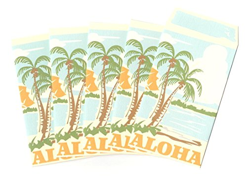 ハワイアン雑貨/ハワイ 雑貨 【マウナロア】 ぽち袋 5枚入り ( アロハ ) 【ハワイ雑貨】【お土産】