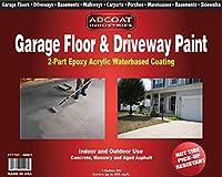 ガレージ床& Drivewayペイント–2-partアクリルエポキシ–Interior Exterior–1ガロンキット–ライトグレー