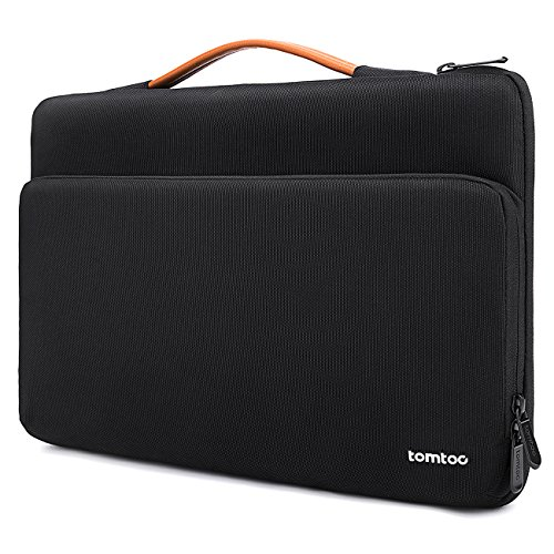 Tomtoc 360度 保護ケース 13インチ MacBook Air | MacBook Pro Retina 2012-2015 | 13.5インチ Surface Book 2 / 1 | 13.5インチ Surface Laptop タブレット ラップトップ スリーブ ハンドバッグ (ブラック)