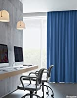 サンゲツ コットン混の遮光1級カーテン フラットカーテン1.3倍ヒダ SC3474 幅:150cm ×丈:100cm (2枚組)オーダーカーテン