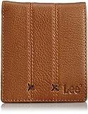 [リー] 財布 シュリンク調オイルレザー 二つ折り(カード収納仕切り付) 320-1853 ブラウン