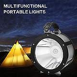 Racazing XM-L2 LED アウトドア キャンプ ドラム形状電灯 LED 折り畳み可能 多機能 防水 高輝度 ABS材 軽量 放電保護 狩猟、歩く、ナイトライド、探検、生存を求める、救助、ダイビング