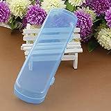 Amazon.co.jp1Pcs ポータブル バスルーム 歯ブラシ歯磨き粉ホルダー 旅行用 青い