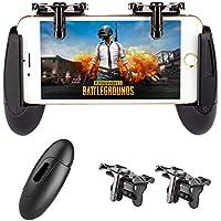 荒野行動 PUBG Mobileコントローラー スマホ用 押し式 射撃ボタン 高速射撃 高感度タッチゲームパッド iPhone/Android対応