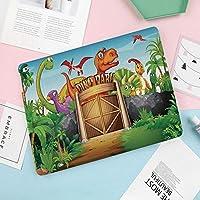 iPad Air 10.5 ケース/iPad Pro 10.5 ケース 薄型 オートスリープ機能 三つ折りスタンド公園に住んでいる恐竜漫画先史時代の野生動物の森の木のドアのイラスト