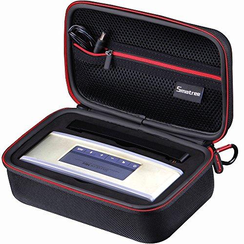 Smatree B160sBose Soundlink Miniワイヤレス ブルートゥーススピーカーバッグ(8.2×4.7×3.1インチ) Bose Soundlink Miniスピーカケース、旅行やホームストレージに最適(BLACK&RED)