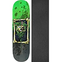 Creature Skateboards Snot Rocketブラック/グリーンスケートボードデッキLarge – 8.25