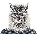 ハロウィーンの小道具の偽装マスクホラー顔のシミュレーション動物の灰色の狼頭のマスクのヘッドギア