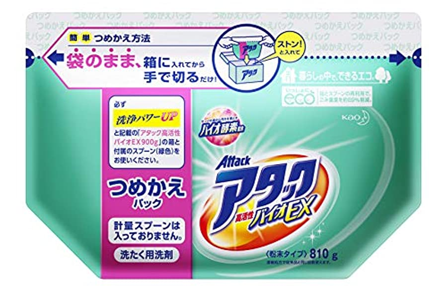 キャンディー国際事実上アタック 洗濯洗剤 粉末 高活性バイオEX 詰め替え 810g
