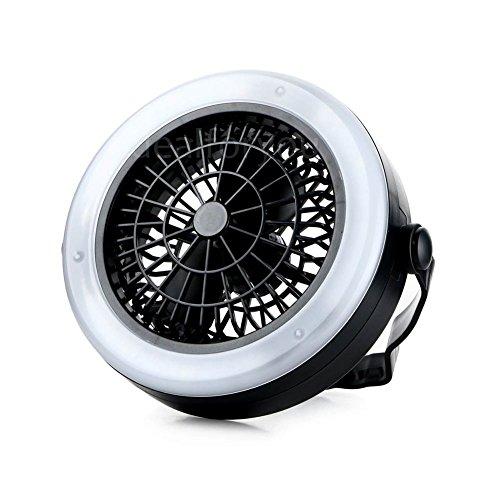 LUCKYBIRD キャンプ用品 扇風機付照明 ファン付LE...