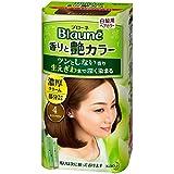 【花王】ブローネ 香りと艶カラー クリーム 4:ライトブラウン 80g ×10個セット