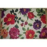 Brillant Flowered 18 x 27 .9 Inch Foam Cushion Rug by Apache Mills