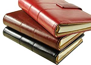 【SCGEHA】システム手帳 A5 上質 SCreationボールペン付 ブラック ブラウン レッド クラシカルタイプ (ブラック)