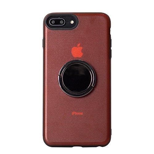 BEGALO iPhone8 Plus/7 Plus ハンドスピナー 指スピナー バンカーリング付 ケース 落下防止 360度回転 スタンド ストレス解消 レッド HDSP-IP8P-RED171