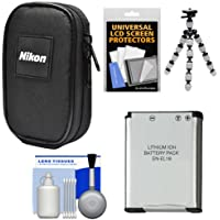 NikonデジタルカメラCoolpixナイロンキャリーケースen - el19バッテリー+ Flex三脚+アクセサリキットfor s32, s33, s3700, s7000, a300, w100