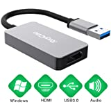 USB to HDMI Adapter, HD Audio Video Cable Converter, USB 3.0 to HDMI for Multiple Monitors 1080P, Compatible with Windows XP/