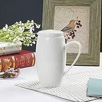 LUOSAI ボーンチャイナマグ純白のセラミックカップ (Size : B)
