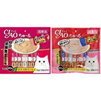 【セット買い】チャオ (CIAO) 猫用おやつ ちゅ~る 総合栄養食 まぐろ 海鮮ミックス味 14g×20本入 & (CIAO) 猫用おやつ ちゅ~る まぐろバラエティ 14g×20本入