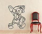 Pinocchio壁デカールDisney Cartoonsリムーバブル防水ビニールステッカー保育園壁アートTeen子供部屋壁装飾壁画( 225a )