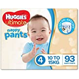 Huggies Ultimate Nappy Pants,Boys, Size 4 Toddler (10-15kg), 93 Count