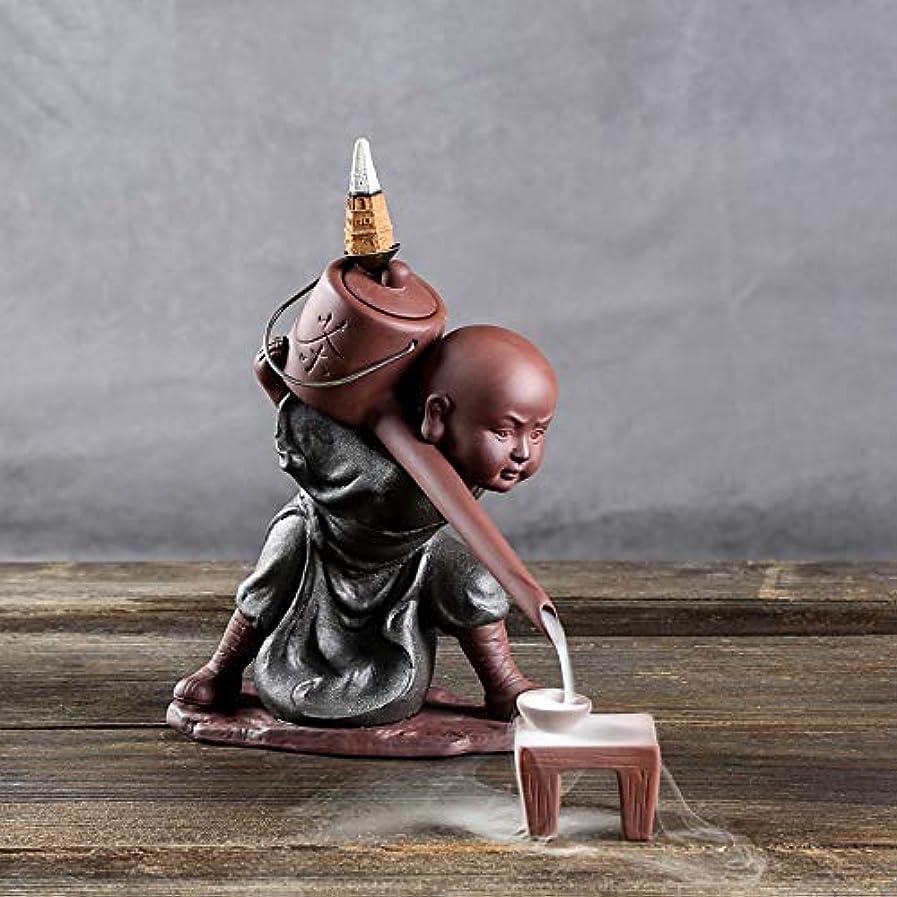 ペン悪性の個人的なPHILOGOD 陶器香炉 セラミックスポッター逆流香炉 僧侶は水を注ぐモデリング仏壇用香炉 お香 ホルダー (style1)