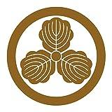 imoninn 家紋ステッカー【丸に三つ柏】013 カッティングタイプ  ゴールドメタリック