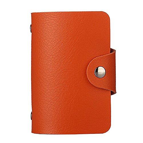 SiMYEER PUレザー クレジット カードケース 24枚のカード収納 カードホルダー 携帯便利 カード入れ 男女兼用