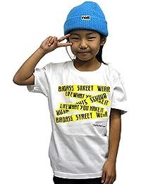4376 BADASS バダス 5BOX バダス Tシャツ キッズ ホワイト×イエロー ダンス キッズ