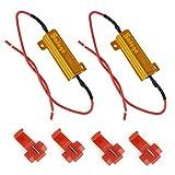 Safego LEDウィンカー ハイフラ防止抵抗器 12V 50W 6Ω 50w 6オーム 負荷抵抗を修正し LED電球ターンシグナルライトフラッシュ 2個付き