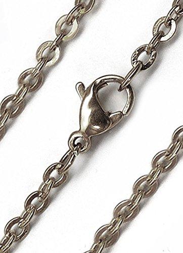[해외]목걸이 체인 남성 스테인레스 실버 적갈색 sn15-slim/Necklace chain men`s stainless steel silver azuki sn15-slim