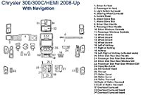 クライスラー300/ 300C / Hemiダッシュトリムキット、withナビゲーション イエロー SKU952-Solid Yellow
