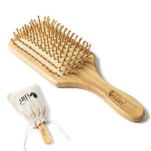 vijin+(ヴィジンプラス) 天然 竹 ヘアブラシ 木製櫛 ヘアケア 美髪コーム 頭皮マッサージ 薄毛改善 (ベージュ)